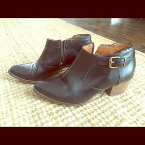 Madewell Black Leather Boots sz 7.5